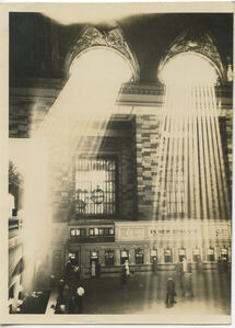 Sun rays head on, too high up, Grand Central