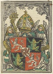The Coat of Arms of Wigeleus von Fröschel, Bishop of Passau