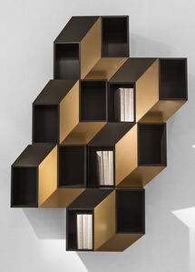 Cinétisme I Wall Cabinet (Gold)