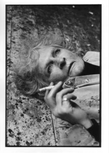 Maggi Hambling on her studio floor