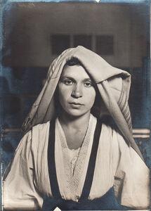 Slavic Woman with Shawl