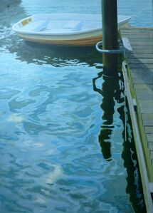 Sunlight on Water with Boat