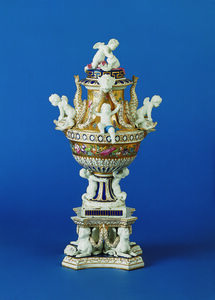 Vase with Pedestal (Cupid and Dolphin)