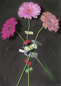 Wall Flower 12 - Pink Gerbera Daisies