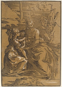 The Holy Family with Two Saints