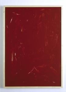 Rote Acrylglaszeichnung Nr 07