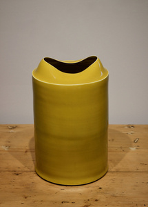 Small Medium Tall Yellow Vessel