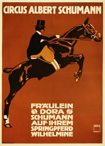 Circus Albert Shumann - Woman Horse Jumping