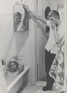 Photo-collage by David Bowie of manipulated film stills from The Man Who Fell to Earth