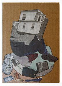 Homme-Maison (Cardboard Portraits Series)