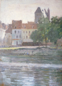 View of Vernon, Giverny done in 1888