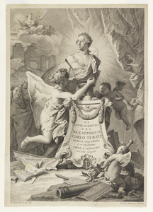 Dedication Page to Charles III of Spain and the Two Sicilies, frontispiece for Paolantonio Paoli, Rovine della cittíæ di Pesto detta ancora Posidonia (1784)