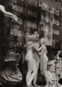 Statues (superimposed on Building)