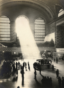 Untitled [Sun rays through side Windows, Grand Central Station]