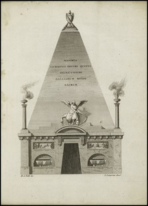 Pyramide plac'e au fond de la nef qui sert d'entr'e … l'interieur du mausol'e