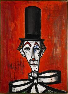 Clown au chapeau noir