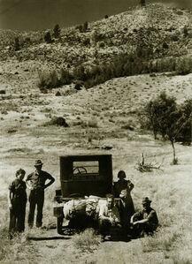 Vernon Evans and Family of Lemmon, South Dakota, near Missoula, Montana, 1936