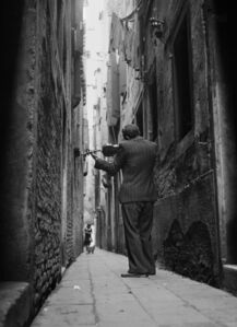 The Violinist, Venice, Italy, 1947