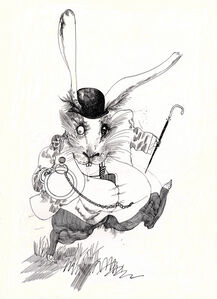 The White Rabbit from Alice in Wonderland by Lewis Carroll