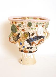 urn with garden interior