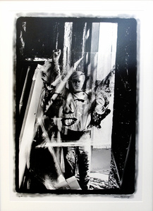 Warhol Holding Marilyn Acetate I