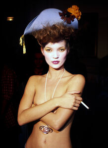 Kate Moss Standing Alone Backstage, Paris