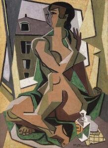 Femme au flacon assise à la fenêtre