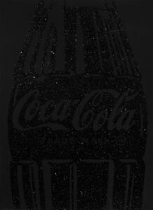 Single Coca-Cola (black on black) with Diamond Dust