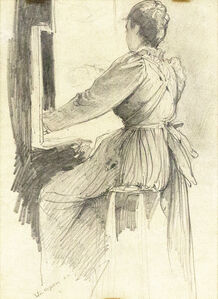Woman Seated at Easel