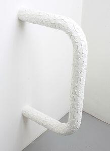 Untitled (white ceramic tiles, concrete, steel)