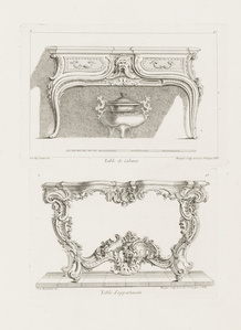 Table de Cabinet, 6th Plate