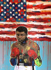 Muhammed Ali Drip Flag