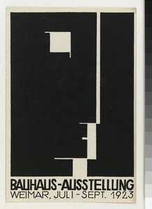 Carte postale pour l'exposition Bauhaus