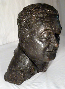 Man Bust Signed