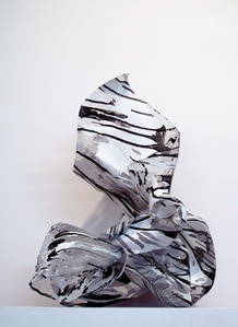 Untitled (Black and White on Mesh)