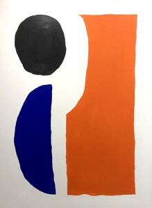 Shapes in orange, black & blue