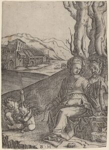 Woman and Satyr with Two Cupids