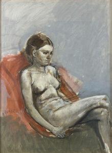 Nude of woman sitting
