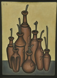 Still Life with Eight Vases