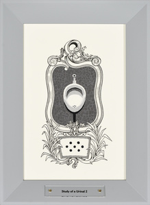 """Study of a Urinal II, from series """"Study of a Toilet"""""""