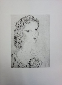 Young Girl with a Rose