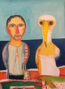 Man and his albatross