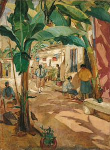 Courtyard with Banana Trees
