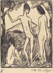 Standing Boy and Two Girls (Stehender Knabe und zwei Madchen)
