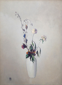 Vase Blanc Avec Fleurs