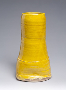 Yellow Vase with Flared Base