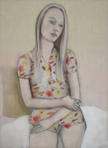 Girl With Flowers on her Shirt