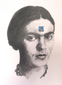 Frida with Frida (dimensions are with frame)