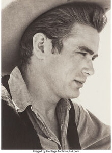 James Dean on Location for Giant in Marfa, Texas