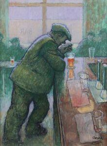 Man Leaning on Bar